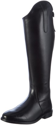 HKM Riding Boots Italy Soft Leather Short/Wide Black Black Size:43 EU