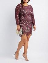 Charlotte Russe Plus Size Eyelash Lace Bodycon Dress
