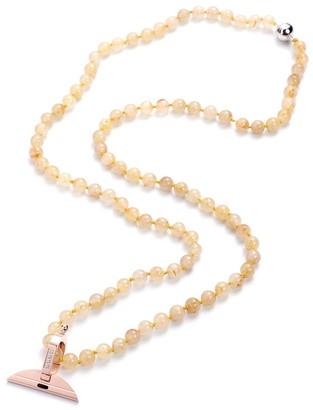 Shop Lc Quartz Necklace with Silver Magnetic Clasp Zircon Charm - Necklace 30''