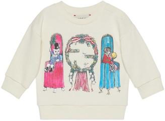 Gucci Baby Yuko Higuchi print cotton sweatshirt