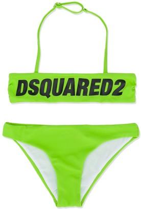 DSQUARED2 Logo Printed Bikini Set