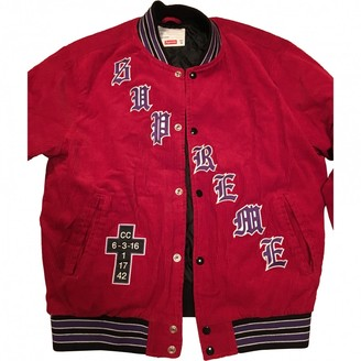 Supreme Red Cotton Jackets