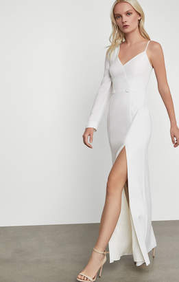 BCBGMAXAZRIA Single Sleeve Tuxedo Gown