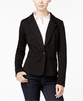 Kensie Long-Sleeve Velvet Polka-Dot Blazer, A Macy's Exclusive Style