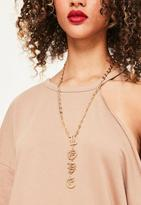 Missguided Love Slogan Necklace