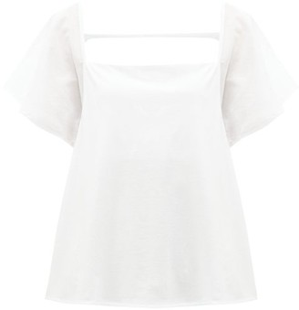 Skin - Pima Cotton Pyjama Top - Womens - White