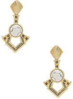 House Of Harlow Patoli Dangle Earrings in Metallic Gold.