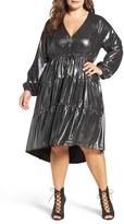 Melissa McCarthy Plus Size Women's Metallic Fit & Flare Dress