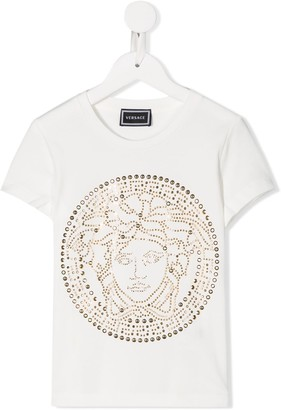 Versace embellished Medusa head T-shirt