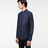 Paul Smith Men's Tailored-Fit Indigo-Dyed Denim Shirt