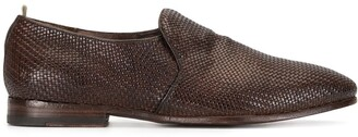 Officine Creative Revien/007 woven derby shoes