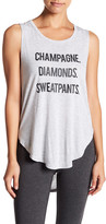 Betsey Johnson Front Graphic Print Tank Top