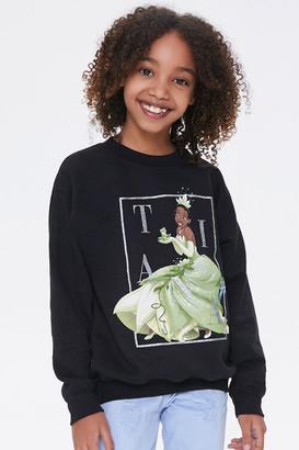 Forever 21 Girls Tiana Graphic Sweatshirt Kids