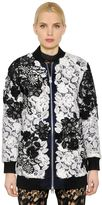 Self-Portrait Two Tone Lace Bomber Jacket