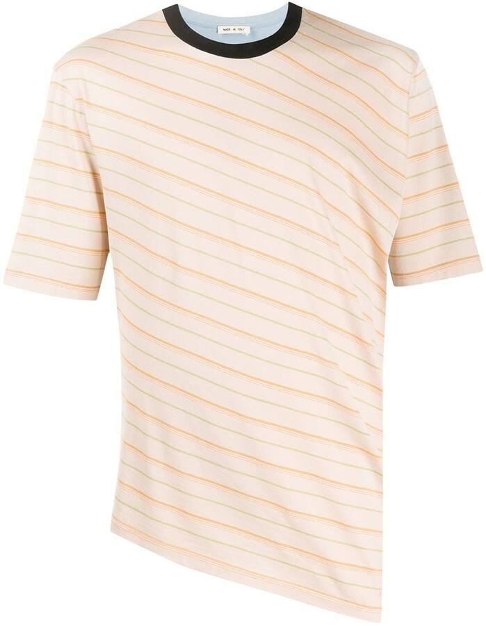 Marni striped asymmetric T-shirt