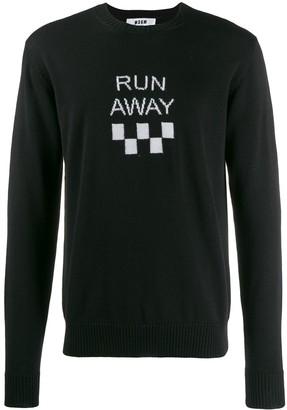 MSGM run away jumper