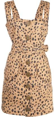 Nicholas leopard print mini dress