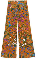Gucci New Flora print corduroy pant