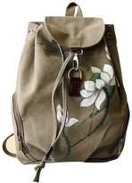 GESIMEI 16.6 L Vintage Canvas Backpack Women Bags Casual Daypacks Rucksack