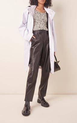 Proenza Schouler White Label Glossy Hooded Nylon Raincoat