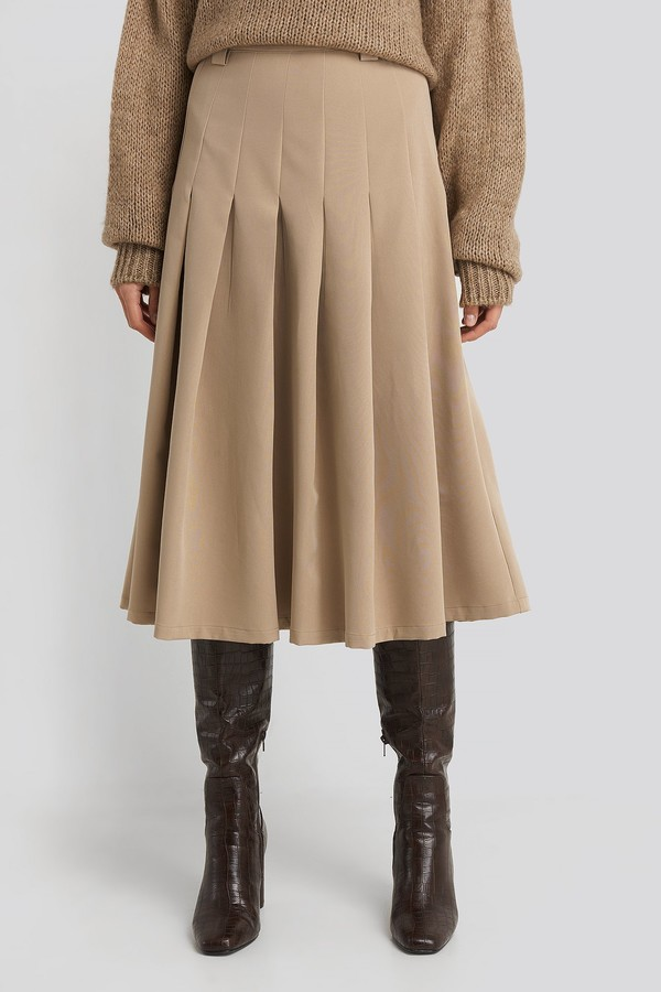 Thumbnail for your product : NA-KD Tailored Pleated Midi Skirt