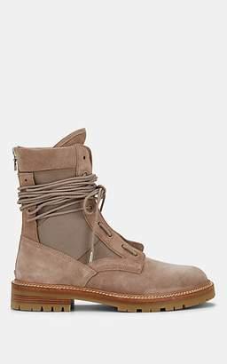 Amiri Men's Army Suede & Canvas Combat Boots - Beige, Tan