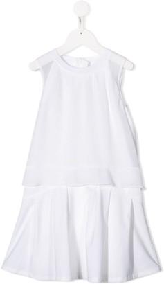 Boss Kids Ruffled Hem Midi Dress
