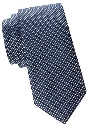 HUGO BOSS Geo Print Silk Tie