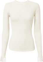 Helmut Lang Long Sleeve Lingerie Top