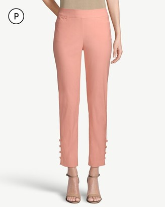 So Slimming Petite Brigitte Button-Hem Ankle Pants