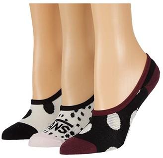 Vans Polka Dot Canoodle 3-Pack (Multi) Women's Crew Cut Socks Shoes