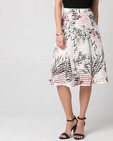 Le Château Floral Print Bonded Mesh Shadow Skirt