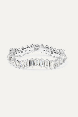 Suzanne Kalan 18-karat White Gold Diamond Ring - 7