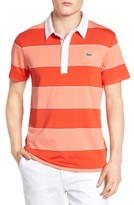 Lacoste Men's Sport Stripe Golf Jersey Polo