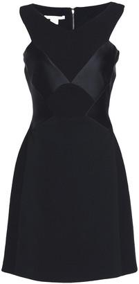 Antonio Berardi Satin-paneled Crepe Mini Dress