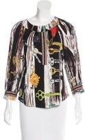 Diane von Furstenberg Silk Three-Quarter Sleeve Top