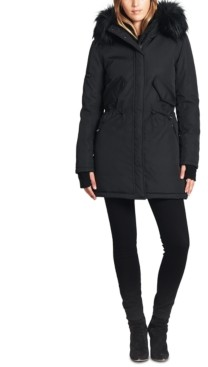 S13 Luxe Canyon Faux Fur Trim Hooded Parka Coat