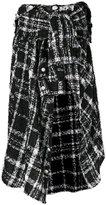 Faith Connexion asymmetric tweed skirt - women - Acrylic/Polyamide/Polyester/Alpaca - S
