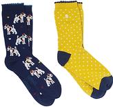 Fat Face Terrier Spot Ankle Socks, Pack of 2, Multi