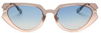 Christian Dior Diorattitude2 Cat-eye Acetate Sunglasses - Womens - Grey Multi