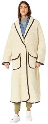 Free People Irresistable Teddy Cardi (Cream) Women's Clothing