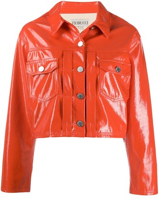Fiorucci Berty vinyl crop jacket