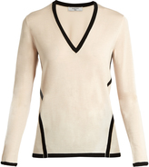Lanvin Contrast-trim wool-knit sweater
