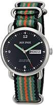 Jack Spade Men's WURU0133 Conway Stainless Steel Watch with Nylon Band