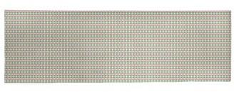 East Urban Home Geometric Handmade Green/Pink Area Rug Rug Size: Runner 2' x 8'