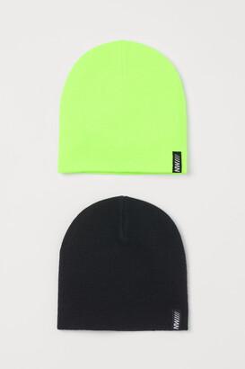 H&M 2-Pack Fine-Knit Hats