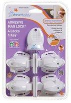 Dream Baby Dreambaby Adhesive Mag Locks - 4 Locks, 1 Key - White