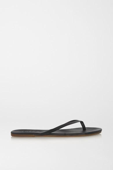 TKEES Lily Matte-leather Flip Flops - Black