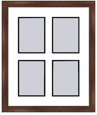 Frames By Mail Walnut Collage Picture Frame - 4 openings for 5X7 photos