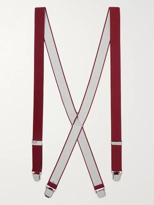 Charvet Elasticated Braces - Men - Burgundy